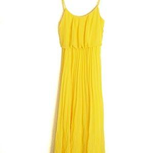 Bisou Bisou Yellow Maxi Dress asz 2